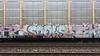 20140710_162611 v2 (collations) Tags: toronto ontario graffiti freights autoracks spoks benching fr8s autocars