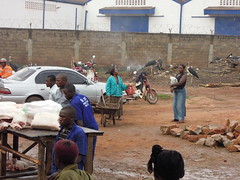 Pork on sale in Wambizzi area of Kampala, Uganda (International Livestock Research Institute) Tags: africa pigs uganda eastafrica wastemanagement ilri sfff safefoodfairfoodproject a4nh