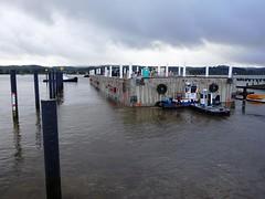 Team Lynx has cleared the basin (WSDOT) Tags: sr520 pontoons aberdeen sr520floatingbridge sr520bridgereplacementandhovproject wsdot washingtonstatedepartmentoftransportation sh pontoonconstructionproject stateroute520 sr520program kiewit kiewitgeneral kg cycle5 tugboat pontoonfloatout september262014