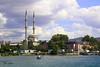 (hiba_safwan) Tags: blue sea summer cloud tree green nature canon turkey boat istanbul مسجد الصيف غيوم طبيعة بحر اخضر اسطنبول تركيا ازرق 100d كانون حياة قارب اجازة krakoy استانيول