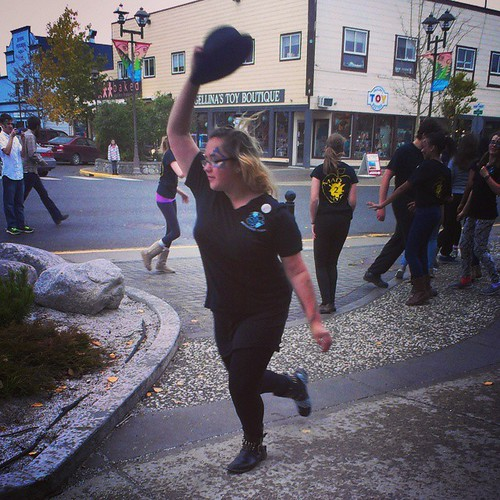 Dancing in the street in #yxy for @culturedays