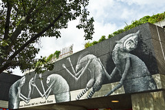 Phlegme (London) (@necDOT) Tags: streetart london graffiti southbank londres phlegme