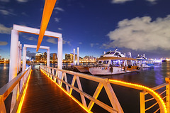 大稻埕碼頭 - Dadaocheng Wharf (blue hour) - Taipei, TAIWAN (urbaguilera) Tags: park lighting city blue orange water night river design boat nikon waterfront nightscape angle riverside daniel horizon wide taiwan tourist tokina hour wharf taipei 城市 夜景 臺灣 aguilera 天空 水 dadaocheng 船 河濱公園 danshui 淡水河 大稻埕碼頭 燈光 臺北市 橙色 d5000 1116mm 建築設計 urbaguilera 藍色時刻