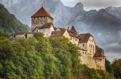 Vaduz Castle (Bephep2010) Tags: mountain alps castle berg minolta sony nik liechtenstein alpen alpha schloss 77 hdr vaduz 70200mm hdrefex 2682118 slta77v