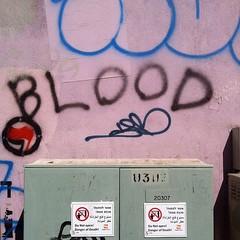 - 29.9.2014: blood (yoelherzberg) Tags: square word blog day text journal daily squareformat format app herzberg yoel dailyblog yoelherzberg iphoneography awordaday instagram instagramapp uploaded:by=instagram