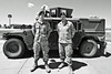 detail (local paparazzi (isthmusportrait.com)) Tags: trip shadow summer portrait people blackandwhite bw usa white black hot blancoynegro blanco hat car contrast america standing trek iso200 nebraska uniform warm pants boots military unitedstatesofamerica negro strangers tire roadtrip automotive highlights boring tokina clean american camouflage vehicle soldiers summertime wyoming airforce cleancut humvee beret tread 16mm usaf ultrawide f8 dull humid usairforce solider unknownlocation unitedstatesairforce gasguzzling atattention 100strangers photoshopelements7 canon5dmarkii localpaparazzi redskyrocketman tokina1628mm28 isthmusportrait vegasroadtrip2014
