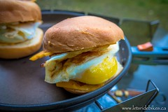 Voila! Breakfast this morning are some Egg Sandwiches.