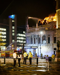 DSCF0527 (wilkinsonc2@googlemail.com) Tags: old city club night square fire office fuji post leeds majestic xe1