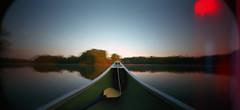 Woods Reservoir, Tennessee (deatonstreet) Tags: lake 120 film holga kodak canoe 100 ektar wpc