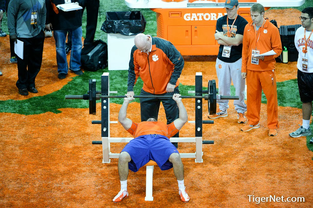 Clemson Photos: 2014, Football, Phillip  Fajgenbaum, practice, proday