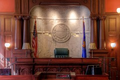 Federal Court - Historic Courtroom (johndecember) Tags: summer usa history public wisconsin court office tour album interior gimp historic september event milwaukee handheld hdr federalcourt mke 2014 federalcourthouse courtroom domke easttown photomatixpro nrhp gnuimagemanipulationprogram photoscape canoneosrebelt1i perspectivetransformation doorsopenmilwaukee lensdistortiontransformation canonef40mmf28stm