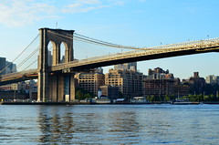 Greetings from the Brooklyn Bridge (pjpink) Tags: nyc newyorkcity bridge summer newyork river september brooklynbridge 2014 pjpink