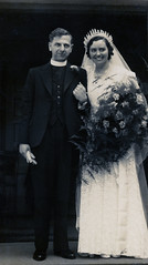 VINTAGE WEDDING (JOHN MORGAN .) Tags: old bw white black vintage found photo interesting different photographer photos and unusual