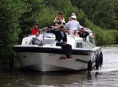 Broadland Fun (paulandmaryafloat) Tags: party holiday river relax fun boating easy fancydress laidback afloat norfolkbroads takingitseriously downtheriver riverant jollyboatingweather messingaboutinboats holidayafloat broadlandfun