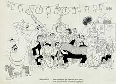 Albert Dubout Album 1944  cartoon  Swing club