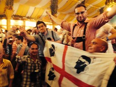 Sardinians in The tent!