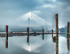fog2 (beelzebub2011) Tags: canada fog vancouver britishcolumbia fraserriver hdr portmannbridge highdynamicresolution