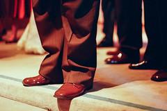 (deanmackayphoto) Tags: wedding brown film leather 35mm nicole shoes shiny pants leg suit erik
