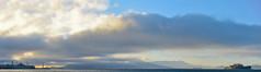 trapped on an island (pbo31) Tags: sanfrancisco california blue sunset sky panorama color fog ferry bay nikon october ship navy large panoramic goldengatebridge sail fishermanswharf alcatraz pier39 naval stitched fleetweek d800 2014