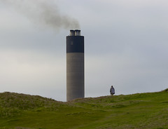 Smell the Kippers (dangerousdavecarper) Tags: chimney man smoke peel isle manx kippers