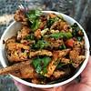 油炸臭豆腐 (EndlessJune) Tags: china food square chinese lofi squareformat chongqing doufu iphoneography instagramapp uploaded:by=instagram