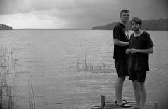Scouting Iv (Fabian Rah) Tags: travel people bw white lake black film nature water analog 35mm canon photography 50mm kodak sweden ae1 schweden roadtrip 400 sw scandinavia bw400cn