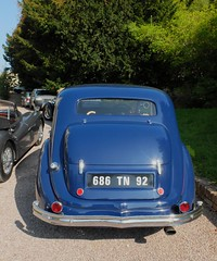 HOTCHKISS  686 Berline (arrire) (xavnco2) Tags: blue classic cars car french automobile antique rally rear autos common rallye voitures bleue arrire 2014 hotchkiss anciennes 686 parisdeauville