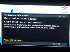 Football Hero Indian Super League 001 (kiranparmar1) Tags: india game football time indian first super screen hero mumbai league score30 kokota