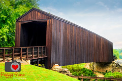 BURFORDVILLE   COVER BRIDGE BOLIINGER MILL (Photography by Peggy Franz FranzsFeaturedFotos) Tags: history state parks bridges cover missouri burfordville landscapephotography missourihistory coverbridges missouriconservation missouriparks discoverthepast peggyfranzphotography misssourihistory