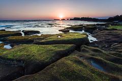 Yet another sunset at mengening beach (Ricky Nugraha) Tags: sunset bali beach rock pantai kuta karang matahari barat canggu tenggelam mengening