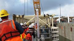 The gate is lifted! (WSDOT) Tags: sr520 pontoons aberdeen sr520floatingbridge sr520bridgereplacementandhovproject wsdot washingtonstatedepartmentoftransportation sh pontoonconstructionproject stateroute520 sr520program kiewit kiewitgeneral kg cycle5 tugboat pontoonfloatout september262014