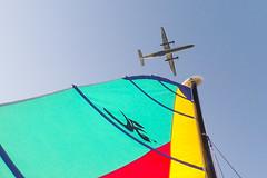 Porter takes off above Toronto's Inner Harbour (suesthegrl) Tags: sailing catamaran lakeontario hobie 2014 torontoharbour tisc nojetsto