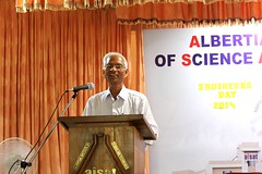 "AISAT Engineering College, Kerala - Prof. Dr. V. S. Raju, Former Director, IIT-New Delhi during Engineer's day on 23rd September 2014 • <a style=""font-size:0.8em;"" href=""http://www.flickr.com/photos/98005749@N06/15364799886/"" target=""_blank"">View on Flickr</a>"