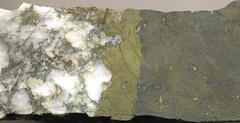 Chalcopyrite-pyrite-tetrahedrite-quartz-siderite hydrothermal vein rock (Warbonnet Vein, San Juan Volcanic Field, mid-Tertiary; Creede Mining District, northern Mineral County, San Juan Mountains, southwestern Colorado, USA) (James St. John) Tags: field san colorado juan district mining copper vein quartz volcanic ore pyrite chalcopyrite warbonnet creede siderite