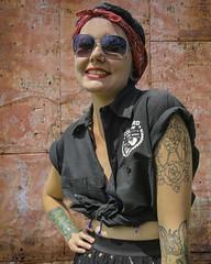 Rosie The Riveter Redux (Culture Shlock) Tags: girls portrait people tattoo portraits women bandana tattos