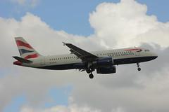 G-EUUZ (Rob390029) Tags: london plane flying airport heathrow aircraft aviation flight civil airbus british passenger ba airways airborne civilian lhr a320 egll geuuz