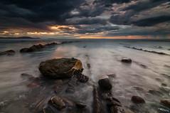 The Cantabric Sea (BIZKAIA) (Jonatan Alonso) Tags: sunset sea costa seascape clouds landscape nikon rocks nubes bizkaia euskadi rocas d300 barrika marcantabrico kostaldea tokina1116