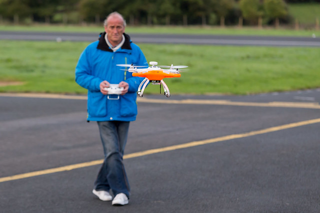 Glenn flying his new Quattro X quadcopter.