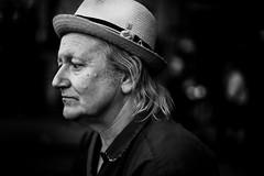 P. (Johan Gustavsson) Tags: summer portrait blackandwhite bw man male hat sweden stockholm sverige sommar svartvit portrtt svartvitt fotografiska