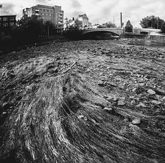 Drained (side rocks) Tags: urban blackandwhite bw monochrome finland river dry tampere tammerkoski urbex drained