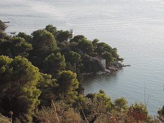 Skiathos / east side (spicros78) Tags: travel blue sea summer sun walking relax island view traditional greece skiathos 2014 sporades pointandshot nikonp330