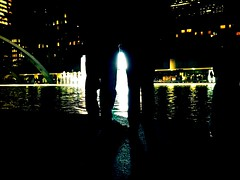 Nuit Life (Matt Zhang Photography (MZP)) Tags: street city urban toronto fountain silhouette night canon eos rebel lights photo exposure cityscape cityhall streetphotography lifestyle nightlife blanche nuit nuitblanche t3i iphone 600d mzp