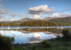 View from the pier 1, Derwent Bank, Portinscale (alanhitchcock49) Tags: 2 lake holiday reflections hotel pier october district derwent bank cumbria keswick hdr 2014 hf portinscale