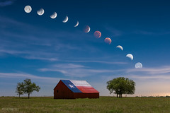 LunarEclipse10814 (Mike Mezeul II Photography) Tags: sky night clouds composition barn skyscape landscape eclipse amazing nikon scenery heaven texas unitedstates waco earth space flag science astronomy eddy lunar bloodmoon mezeul
