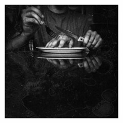 Hands (Jess Ayotte) Tags: newyork reflection 120 film college analog dark design holga hands exposure experimental eating fingers dream knife surreal spit fork overlay dreaming lucid