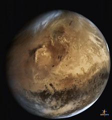 MOM 7october from about 66,543 km (Elysium and Gale crater) (2di7 & titanio44) Tags: mars mom isro galecrater