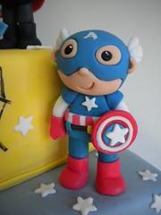Capitán America (Pastelera Bakery Shop) Tags: palmademallorca pasteles islasbaleares pastelesdecorados pastelesdecoradospalmademallorca
