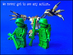 Be careful what youy wish for! (tim constable) Tags: green monster toys miniature quiet lego lol guard humour boring boo surprise soldiers shock funnypics minifigs wish dull patrol diorama fright sentry becareful minifigures aroundthecorner toyphotography mixel creepup