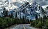 A Road to the Peaks (Jeff Clow) Tags: road travel vacation holiday mountains nature landscape bravo soaring grandtetonnationalpark jacksonholewyoming jeffclowphototours