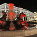 FYROM*, Skopje, fountain with horses and the museum of